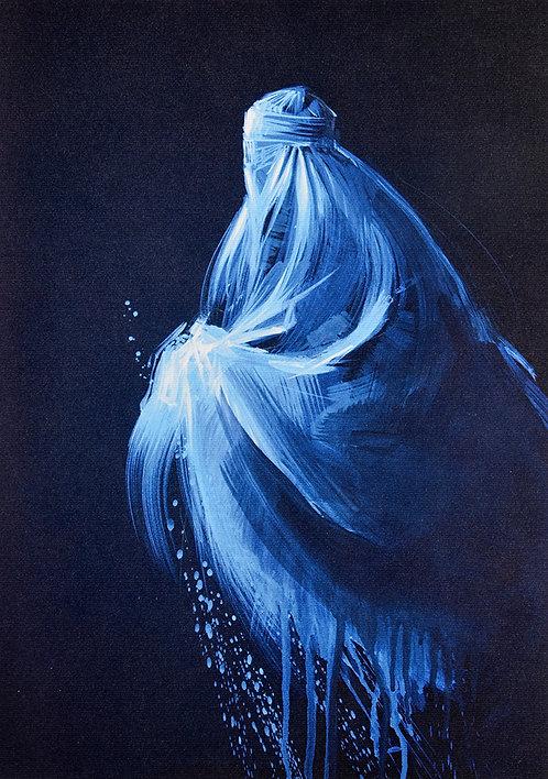Les Hirondelles de Kaboul, L'Hirondelle bleue (21 x 29,7 cm)