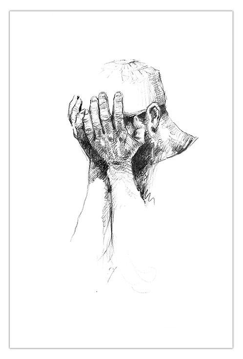 Afghanistan, Les Hirondelles de Kaboul, Mains (42 x 29 cm)