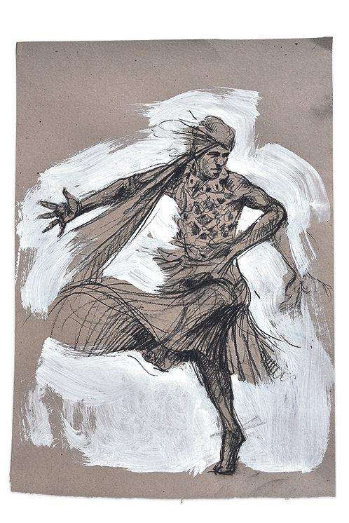 Sri Lanka, Etude du danseur du tableau Kandy III