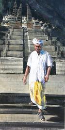 INDONESIE, Grand escalier