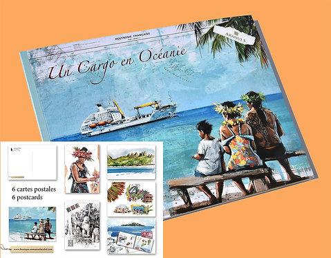 Un Cargo en Océanie, livre et 6 cartes postales