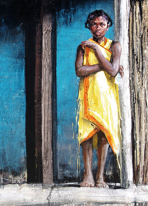 Madagascar, jeune fille 10x15 cm