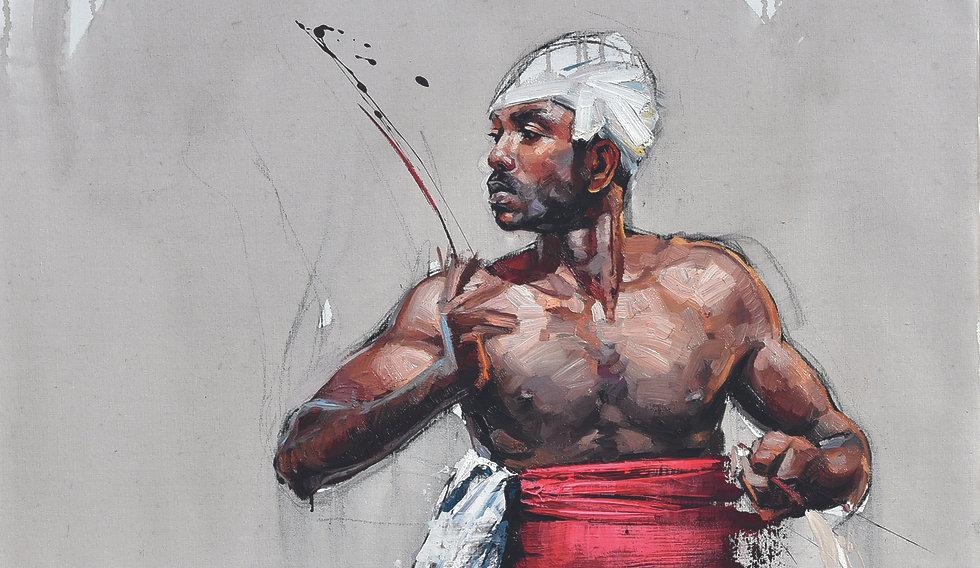 Emmanuel MIchel - peinture - Sri Lanka - musicien de Kandy