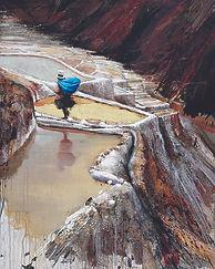 Emmanuel Michel peinture Pérou les salines