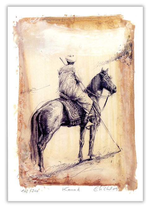Egypte, Cavalier égyptien (21 x 30 cm)