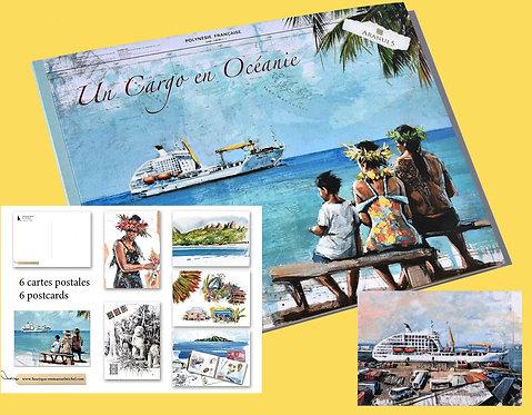 Un Cargo en Océanie, livre + 1 magnet + 6 cartes postales