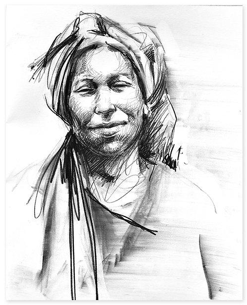 Maroc, Fatima (40 x 50 cm)