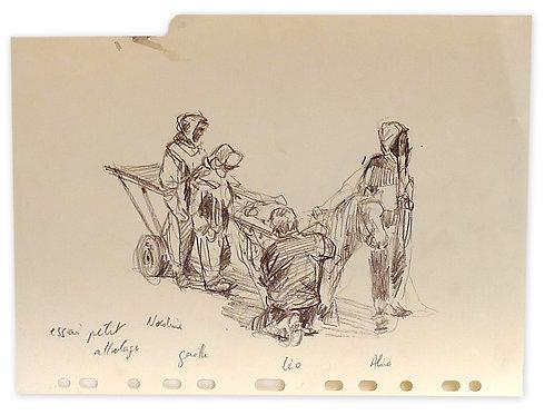Zingaro, L'attelage au poney (23 x 30 cm)