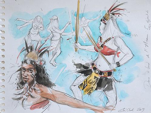 Polynésie, Danse à bord du bateau l'Aranui V à Tahiti