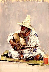 Emmanuel Michel peinture Maroc musicien