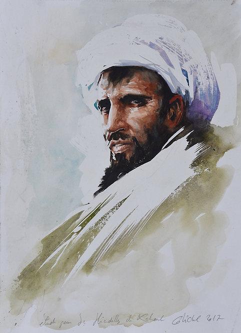 Afghanistan, Les Hirondelles de Kaboul, Portrait d'homme de trois-quarts