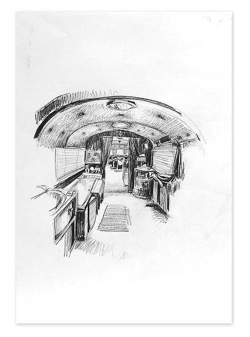 Zingaro, Intérieur de la caravane de Bartabas (60 x 42 cm)