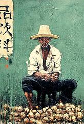 Emmanuel Michel peinture Chine vendeur de rue