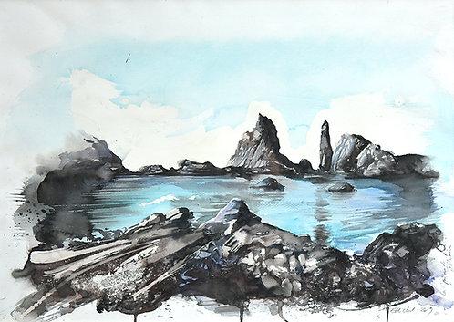 Polynésie, La piscine de Pitcairn (70 x 50 cm)