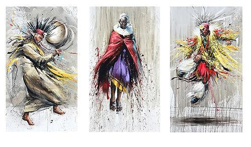 Emmanuel Michel peintre sculpteur danseurs masaî, indien et chaman
