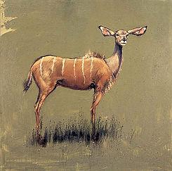 Emmanuel Michel peinture Namibie kudu
