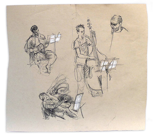 Zingaro, Musiciens (48 x 55 cm)