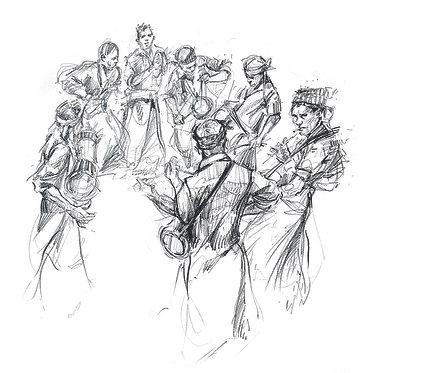 Sri Lanka, Groupe de musiciens