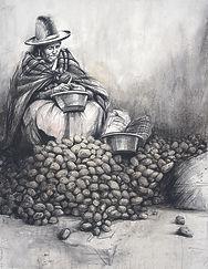 Emmanuel Michel dessin Pérou reine des patates
