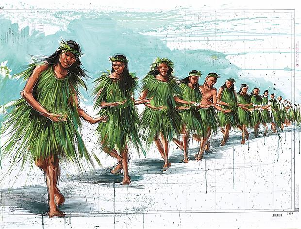 TAHITI, Danseuse