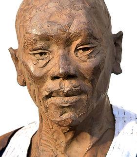 Emmanuel Michel sculpture de Kodjo bronze métal taille humaine - Togo