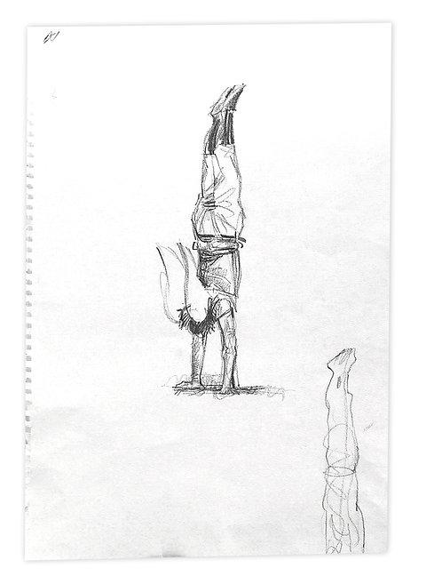 Zingaro, Etienne faisant le poirier (42 x 30 cm)