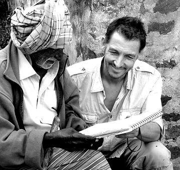 Emmanuel Michel peintre sculpteur voyageur au Sri Lanka