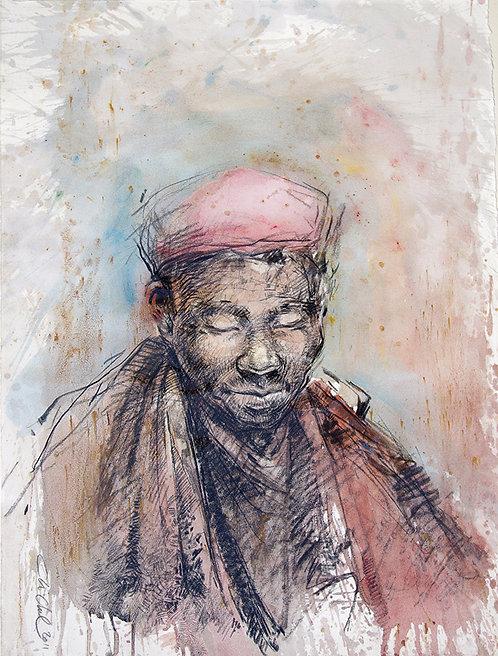 Mongolie, Moine (61 x 47 cm)