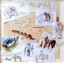 FILM, Tour du Mont Blanc à cheval