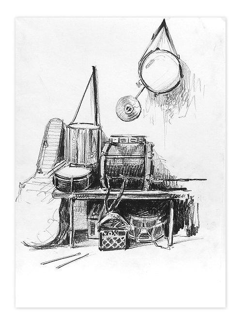 Zingaro, Instruments de musique (30 x 42 cm)