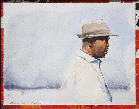 New York, Un passant (40 x 50 cm)