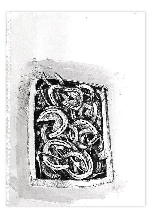 Zingaro, Fers à cheval (30 x 42 cm)