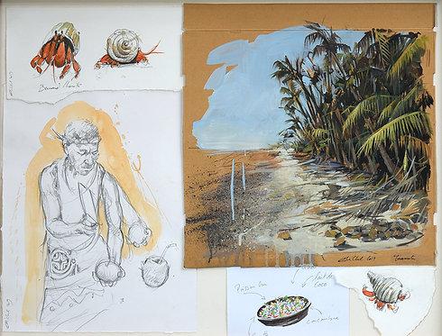 Polynésie, Cocotiers (65 x 50 cm)
