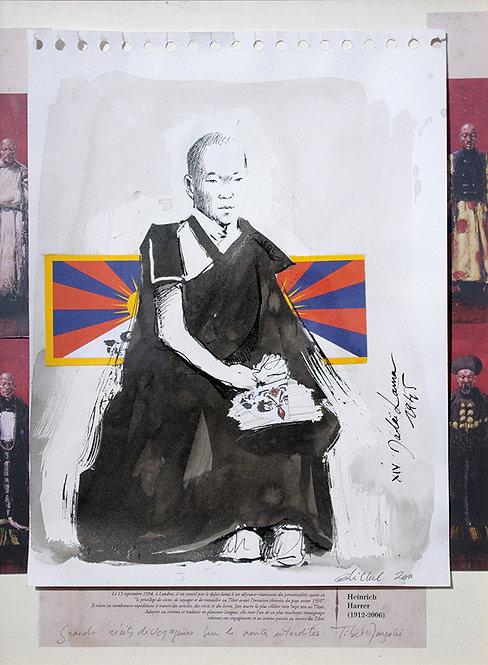 Tibet, Le XIVe Dalaï Lama (40 x 30 cm)