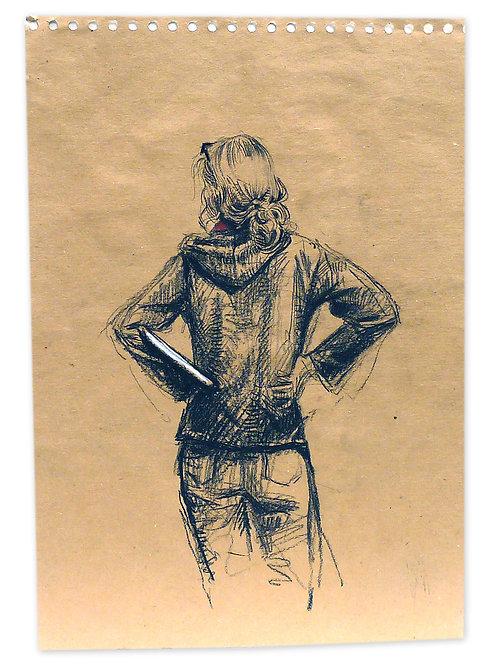 Zingaro, Anne de dos (42 x 30 cm)