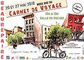 Emmanuel Michel Salon du Carnet de Voyage à Beaurepaire 2018 peintures dessins sculptures livres