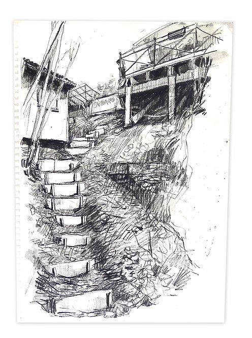 Zingaro, Sous la terrasse de Bartabas (42 x 29 cm)