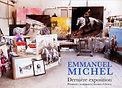 Emmanuel Michel exposition Galerie le Soleil sur la Place Lyon 2018 peintures dessins sculptures livres