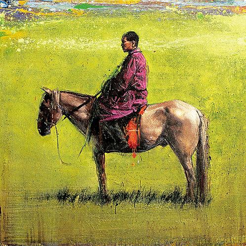 Mongolie, Cavalier 15x15 cm