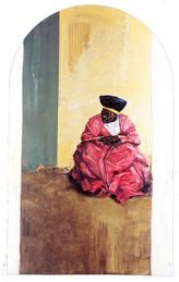 NAMIBIE, Femme en rose