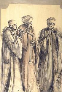 EGYPTE, Musiciens de mawled