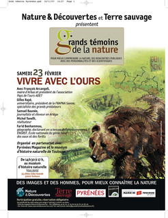 AFFICHE TERRE SAUVAGE, Ours