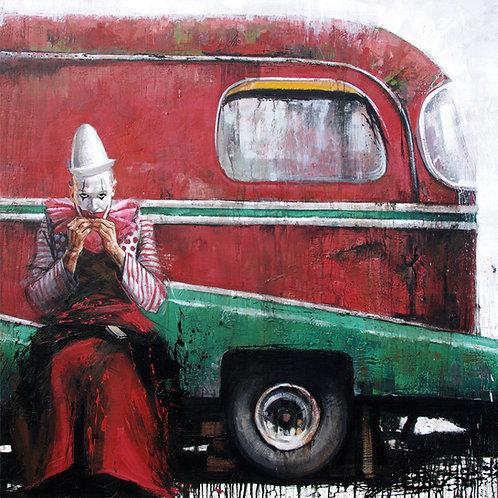 Zingaro, Le clown assis 15x15 cm