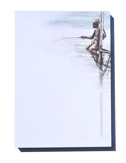 Bloc-notes - Pêcheur au Sri Lanka