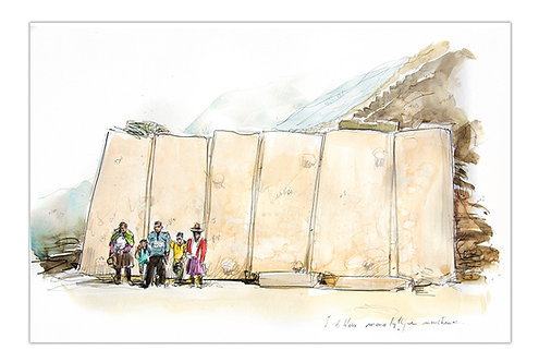 Pérou, Ollantaytambo (28 x 42 cm)