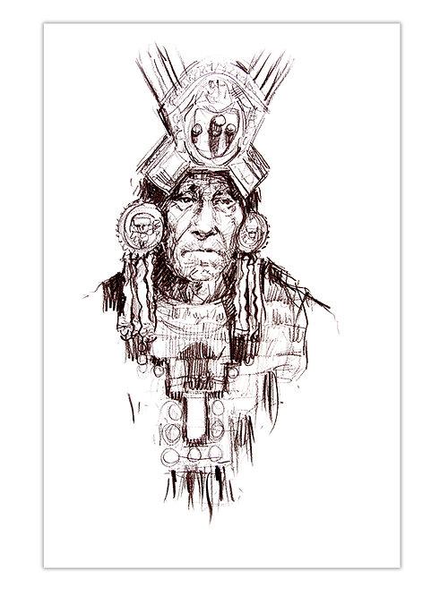 Pérou, Le seigneur de Sipan II (40 x 30 cm)