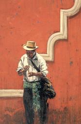 GUATEMALA, Flutiste mutilé