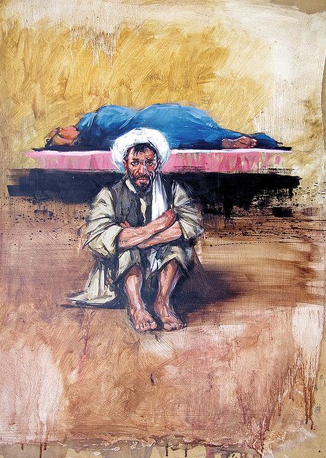 Afghanistan, Les Hirondelles de Kaboul, Atiq Mussarat (72 x 52 cm)