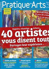Magazine Pratique des Arts Hors série 2018 Emmanuel Michel peintures sculptures dessins livres carnets de voyage