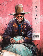 Globe Trotter mars 2018 magazine Emmanuel Michel livre Pérou peintures dessins sculptures